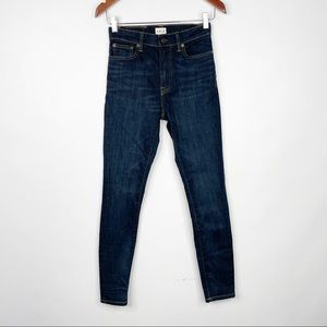 Able The High Rise Dark Wash Skinny Jeans